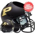 Office Accessories, Desk Items: Purdue Boilermakers Miniature Football Helmet Desk Caddy <B>Matte Black</B>