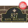 Home Accessories, Outdoor: New Orleans Saints Arched Address Plaque Black/Gold