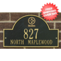 Home Accessories, Outdoor: Pittsburgh Steelers Arched Address Plaque Black/Gold