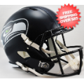 Helmets, Full Size Helmet: Seattle Seahawks Speed Replica Football Helmet <B>Matte Navy</B>