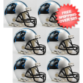 Helmets, Mini Helmets: Carolina Panthers NFL Mini Football Helmet 6 count