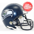 Helmets, Mini Helmets: Seattle Seahawks NFL Mini Football Helmet <B>Matte Navy</B>