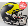 Helmets, Full Size Helmet: Michigan Wolverines Speed Replica Football Helmet