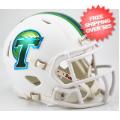 Helmets, Mini Helmets: Tulane Green Wave NCAA Mini Speed Football Helmet <B>Matte White</B>