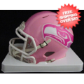 Helmets, Mini Helmets: Seattle Seahawks Riddell Pink Speed Mini Helmet
