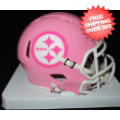 Helmets, Mini Helmets: Pittsburgh Steelers Riddell Pink Speed Mini Helmet