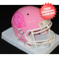 Helmets, Mini Helmets: Arizona Cardinals Riddell Pink Speed Mini Helmet