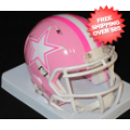 Helmets, Mini Helmets: Dallas Cowboys Riddell Pink Speed Mini Helmet