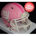 Helmets, Mini Helmets: New York Giants Riddell Pink Speed Mini Helmet
