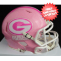 Helmets, Mini Helmets: Green Bay Packers Riddell Pink Speed Mini Helmet