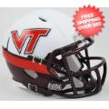 Helmets, Mini Helmets: Virginia Tech Hokies NCAA Mini Speed Football Helmet <B>White Effect</B>