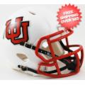 Helmets, Mini Helmets: Utah Utes NCAA Mini Speed Football Helmet <B>Interlocking U</B>