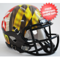 Helmets, Mini Helmets: Maryland Terrapins NCAA Mini Speed Football Helmet <B>Pride</B>