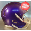 Helmets, Blank Mini Helmets: Mini Speed Football Helmet SHELL Purple Metallic