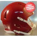 Helmets, Blank Mini Helmets: Bulk Mini Speed Football Helmet SHELL Cardinal Qty 24