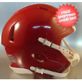 Helmets, Blank Mini Helmets: Mini Speed Football Helmet SHELL Cardinal