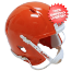 Mini Speed Football Helmet SHELL Burnt Orange
