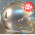 Helmets, Blank Mini Helmets: Mini Speed Football Helmet SHELL Extra Bright Silver