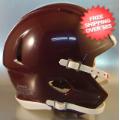 Helmets, Blank Mini Helmets: Mini Speed Football Helmet SHELL Maroon