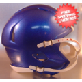 Helmets, Blank Mini Helmets: Mini Speed Football Helmet SHELL Metallic Royal Blue