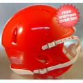 Helmets, Blank Mini Helmets: Mini Speed Football Helmet SHELL Scarlet