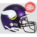 Helmets, Full Size Helmet: Minnesota Vikings Football Helmet <B>Matte Purple</B>