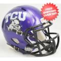 Helmets, Mini Helmets: TCU Horned Frogs NCAA Mini Speed Football Helmet