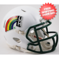 Helmets, Mini Helmets: Hawaii Warriors NCAA Mini Speed Football Helmet <B>Retro</B>