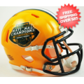 Helmets, Mini Helmets: North Dakota State Bison NCAA Mini Speed Football Helmet <B>2015 National C...