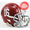 Helmets, Mini Helmets: Alabama Crimson Tide NCAA Mini Speed Football Helmet #16