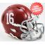 Alabama Crimson Tide NCAA Mini Speed Football Helmet #16