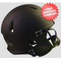 Helmets, Blank Mini Helmets: Bulk Mini Speed Football Helmet SHELL Matte Black Qty 24