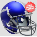 Helmets, Full Size Helmet: Air Force Falcons Full XP Replica Football Helmet Schutt <B>Satin Blue</B>