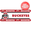 Home Accessories, Bed and Bath: Ohio State Buckeyes Wallpaper Border