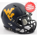 Helmets, Mini Helmets: West Virginia Mountaineers NCAA Mini Speed Football Helmet <B>2016 Satin Na...