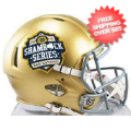 Helmets, Mini Helmets: Notre Dame Fighting Irish NCAA Mini Speed Football Helmet <B>2016 SA Souven...