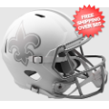 Helmets, Full Size Helmet: New Orleans Saints ICE Speed Replica Helmet <B>Discontinued</B>