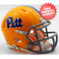 Helmets, Mini Helmets: Pittsburgh Panthers NCAA Mini Speed Football Helmet <B>Script Gold TB</B>