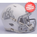 Helmets, Mini Helmets: Super Bowl 51 ICE Mini Speed Football Helmet <B>Matte White</B>