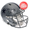 Autographs, Full Size Helmet: Dak Prescott Autographed Dallas Cowboys Full Size Replica Speed Helmet - JS...