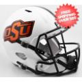 Helmets, Full Size Helmet: Oklahoma State Cowboys Speed Replica Football Helmet <B>White 2016</B>