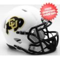 Helmets, Mini Helmets: Colorado Buffaloes NCAA Mini Speed Football Helmet <B>Matte White</B>