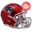 New England Patriots  BLAZE Speed Mini Football Helmet <B>2017 BLAZE</B>