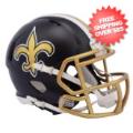 Helmets, Mini Helmets: New Orleans Saints  BLAZE Speed Mini Football Helmet <B>2017 BLAZE</B>