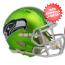Seattle Seahawks  BLAZE Speed Mini Football Helmet <B>2017 BLAZE</B>
