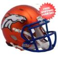 Helmets, Full Size Helmet: Denver Broncos BLAZE Speed Replica Football Helmet <B>2017 BLAZE</B>