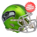 Helmets, Full Size Helmet: Seattle Seahawks BLAZE Speed Replica Football Helmet <B>2017 BLAZE</B>