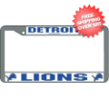 Car Accessories, License Plates: Detroit Lions License Plate Frame Chrome