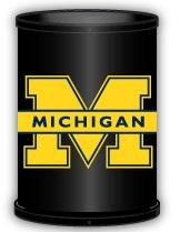 Michigan Wolverines Trashcan