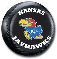 Kansas Jayhawks Tire Cover <B>BLOWOUT SALE</B>